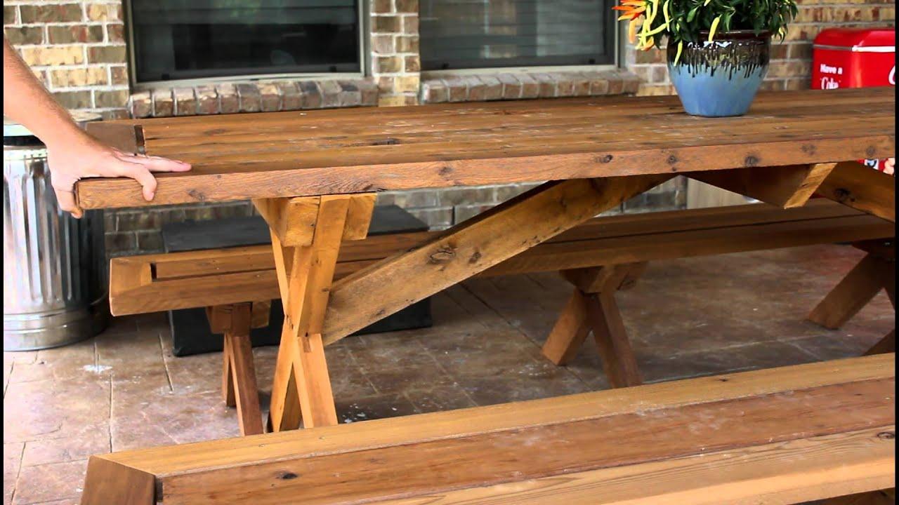 picnic table wobble