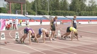 Чемпионат России ,многоборье.Забег на 100 м.