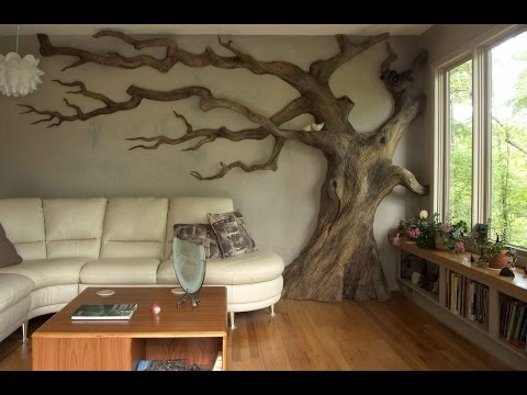 Декорирование стен интерьера своими руками. Мастер класс: искусственное состаривание дерева
