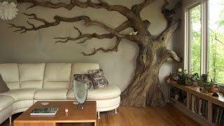 Декор из дерева своими руками. Современный декор комнаты.