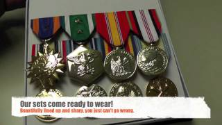 Mounted Military Medal Sets