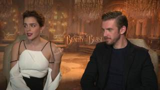 Emma Watson & Dan Stevens raw interview Beauty and the Beast