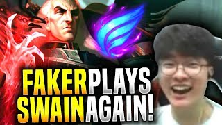 Faker is Back with his Swain! - SKT T1 Faker Plays Swain Top vs Fiora! | SKT T1 Replays