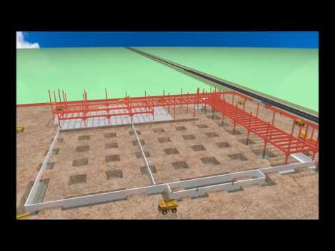 Sample 3D Studio Max Animation of Logistics Building