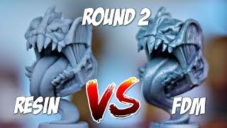 Round 2!  Resin 3D Printer vs FDM 3D Printer | Ender 3 vs Elegoo Mars & MP Mini