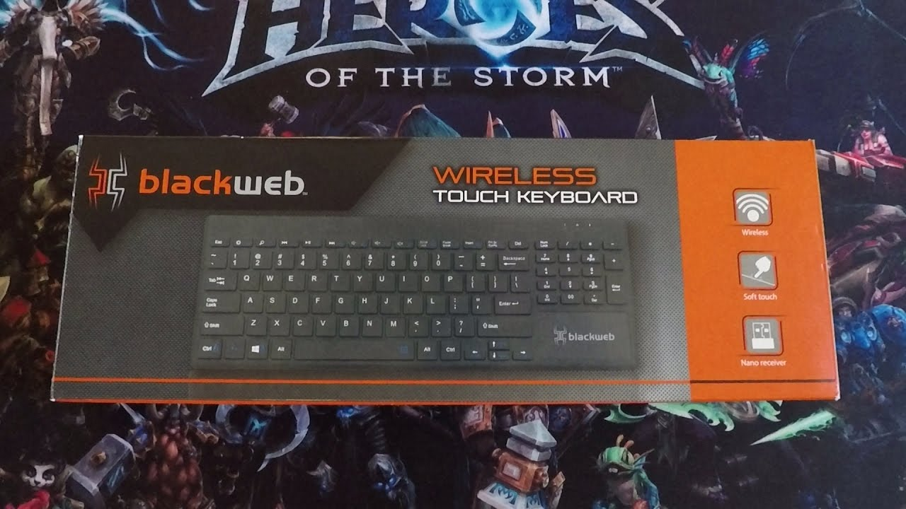 4d9d57240cf Blackweb wireless touch keyboard unboxing - YouTube