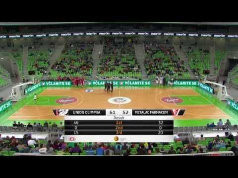 ABA Liga 2014/15, Round 06 match: Union Olimpija - Metalac Farmakom