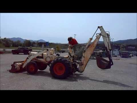 Case 310b Tractor With Loader Forks Backhoe