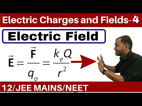 Electric Charges and Fields 04 || Electric FieldPart 1 -Field due to a Point Charge JEE MAINS/NEET