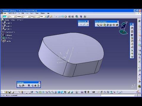 Uebung 2 - Catia v5 GSD Training - Extrude - Edge filet - Thick surface
