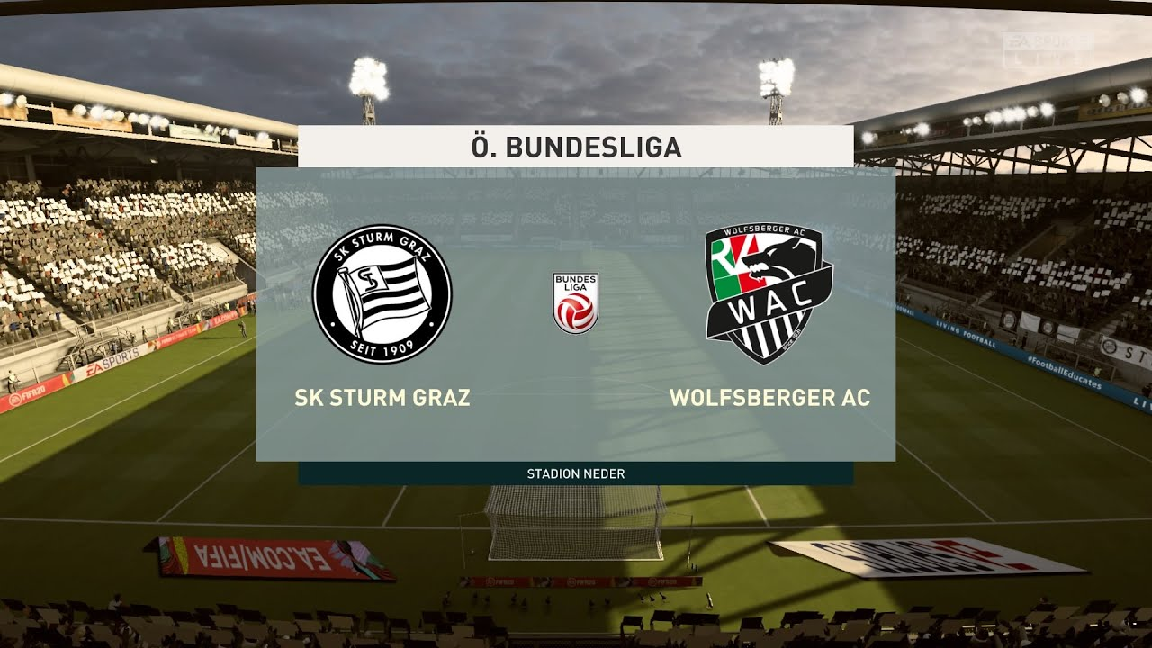 Fifa 20 Sturm Graz Vs Wolfsberger O Bundesliga 03 06 2020 1080p 60fps Youtube