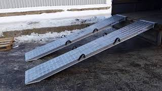 Сходни из алюминия грузоподъём-сть 10 тонн 3,2 метра длина(, 2018-02-15T11:00:43.000Z)