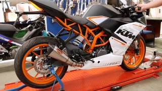 ahm pro racing exhaust for ktm rc390 zr1 series