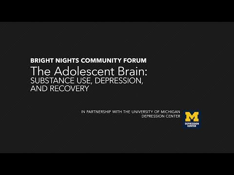 The Adolescent Brain - Substance Use, Depression, and Recovery | Ann Arbor District Library