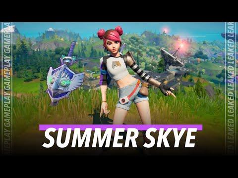 "LEAKED ""SUMMER SKYE"" SKIN GAMEPLAY!!! (AUGUST CREW PACK) - Fortnite Battle Royale"