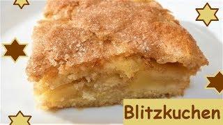 Blitzkuchen: Apfelkuchen mit Zimt-Zucker-Kruste!