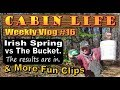 OFF GRID CABIN LIFE   Assoterd Clips From Our Life In The Woods   Vlog 16