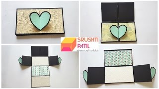 Heart lock accordion card Tutorial by Srushti Patil