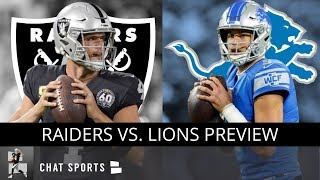 Raiders vs. Lions: 10 Reasons Why The Oakland Raiders Are GUARANTEED To Beat Detroit   NFL Week 9