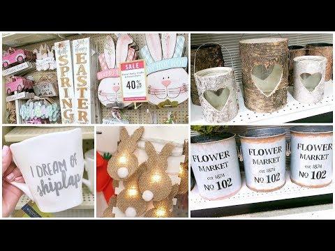 Hobby Lobby Shop With Me - Home Decor, Easter Decor, Farmhouse Decor