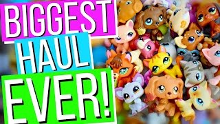 Opening 200 LPS - BIGGEST HAUL EVER! Unboxing eBay Package Lot (Rare Pets!) | Littlest Pet Shop