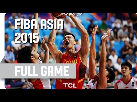 Singapore v China - Group C - Full Game - 2015 FIBA Asia Championship