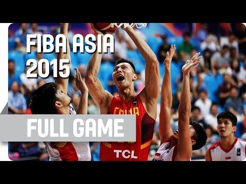 Singapore V China - Group C - Full Game - 2015 FIBA Asia Championship