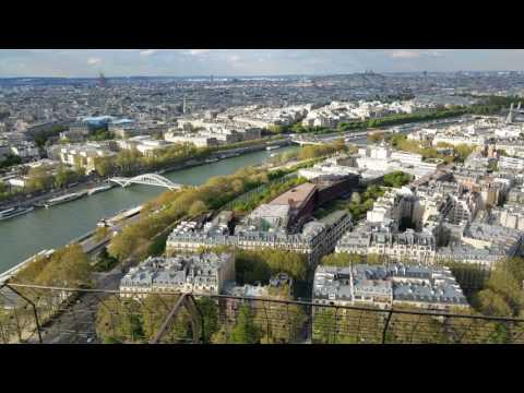 Париж. Часть 1. Эйфелева башня.Поднимаемся наверх. Вид сверху на Париж
