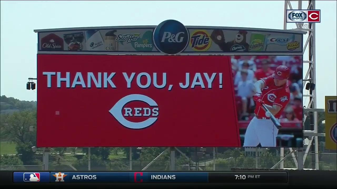 Cincinnati Reds honor Jay Bruce with ceremony before the team's ...