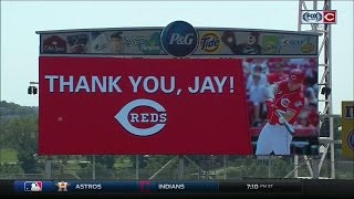Cincinnati Reds honor Jay Bruce with ceremony before the team's game vs. New York Mets