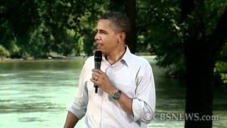Obama jabs Congress at first stop of bus tour