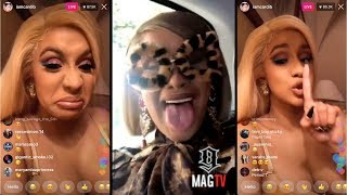 """Cardi B: """"I Still Want This Lifestyle When I'm 50 Years Old"""" On IG Live!"""