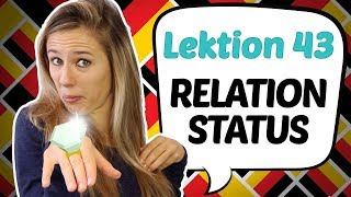 GERMAN LESSON 43: Wнat is your relationship status? 💏 💏 💏