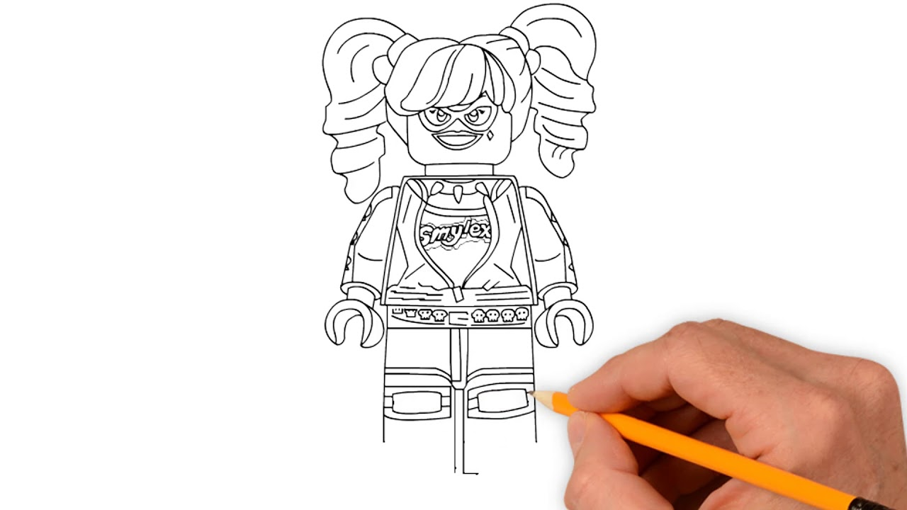 How To Draw Lego Harley Quinn Coloring Pages - Draw Step ...
