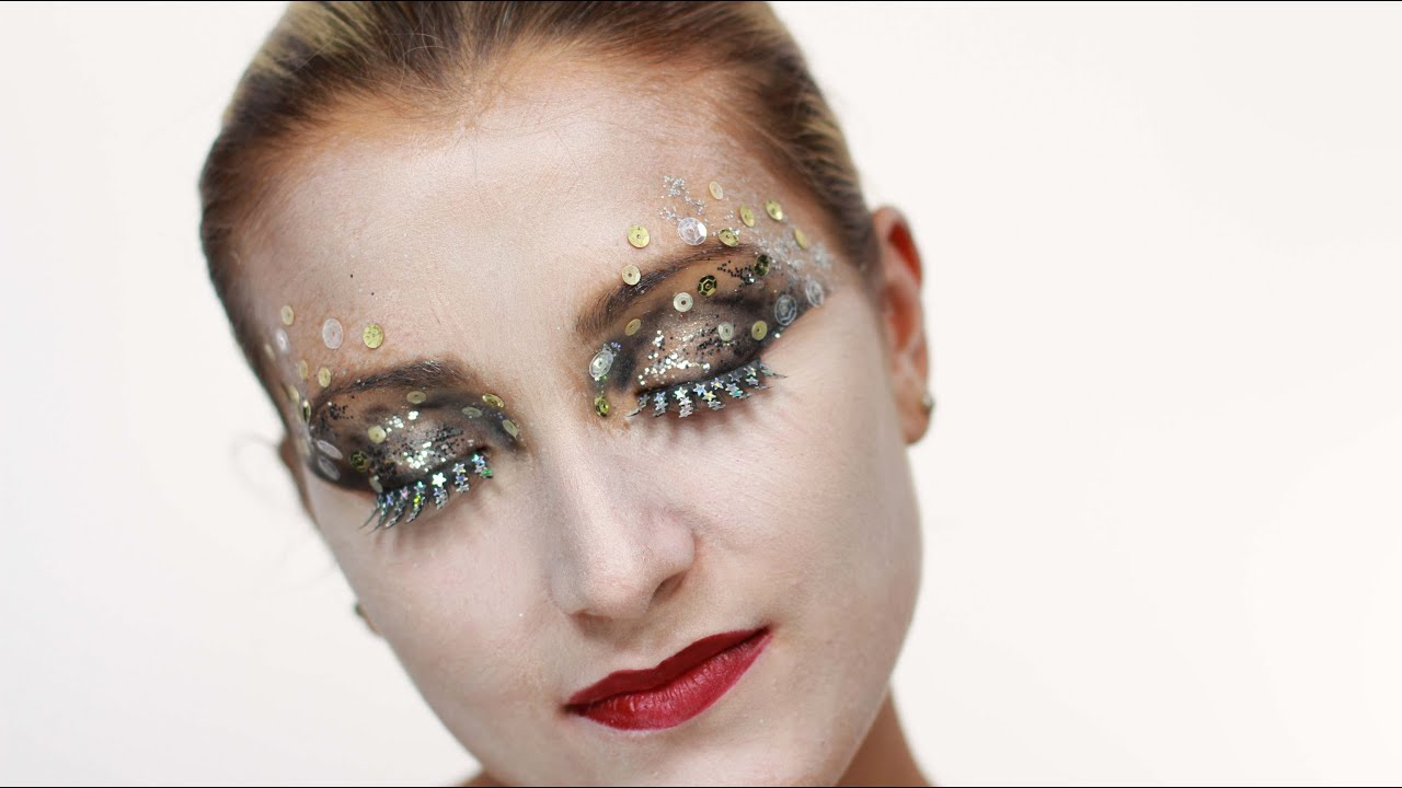How To do Sequin Eye Makeup - YouTube - photo#32