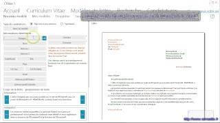 Créer une lettre de motivation avec CVitae, logiciel gratuit d