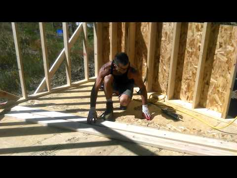 Constructing Wood Beams - Save Money - Do It Yourself  - Solar Shed Update