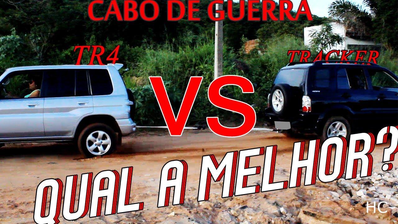 Gm Tracker Vs Pajero Tr4 Cabo De Guerra Youtube