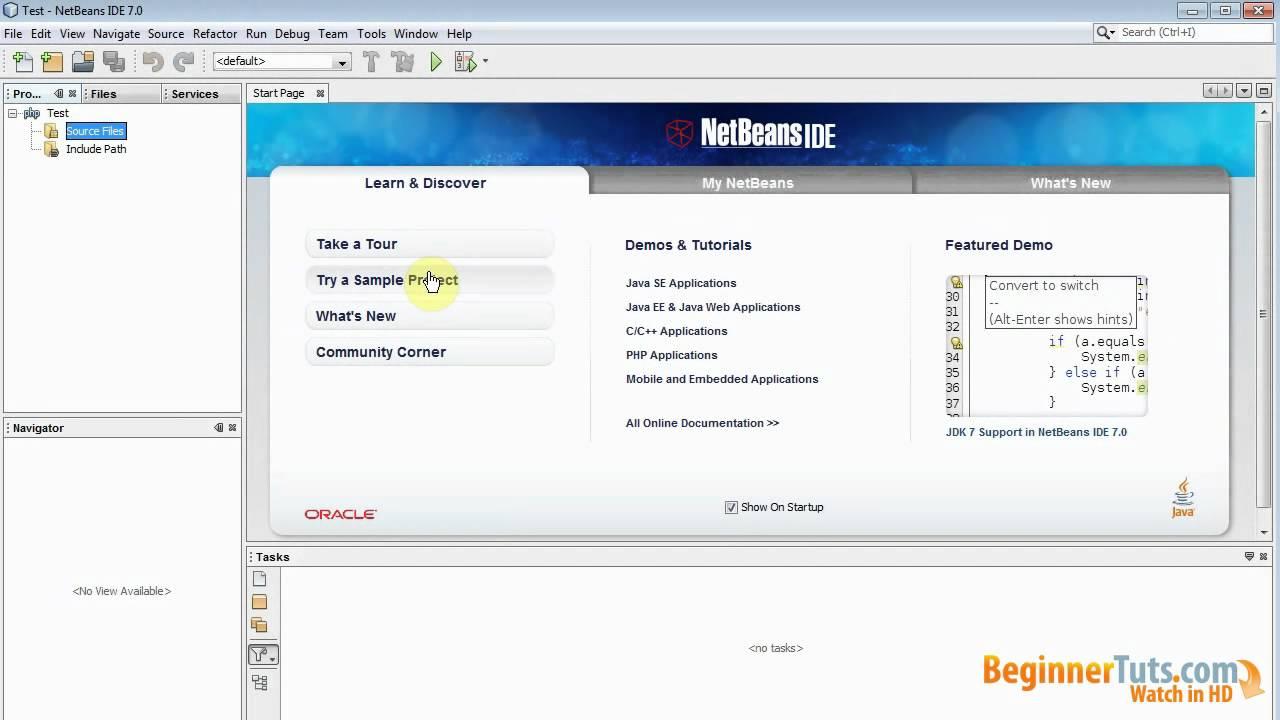HTML in netbeans