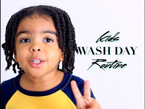 kids-natural-curly-hair-•-wash-day-routine-•-massaging-shampoo-brush