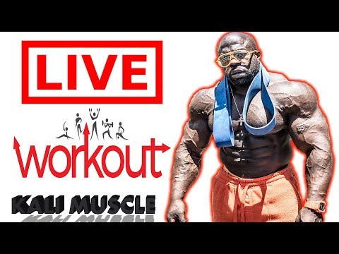 Kali Muscle   BACK WORKOUT 🔴 LIVE