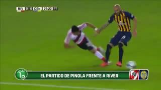 La actuación de Pinola en River 0 - 0 Rosario Central (2017)