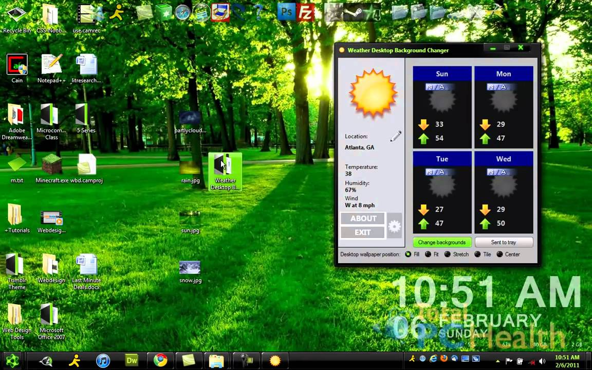 Change Desktop According to the Weather