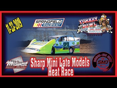 Sharp Mini Late Models Heat Races - Turkey Bowl Xlll Springfield Raceway 11-24-2019