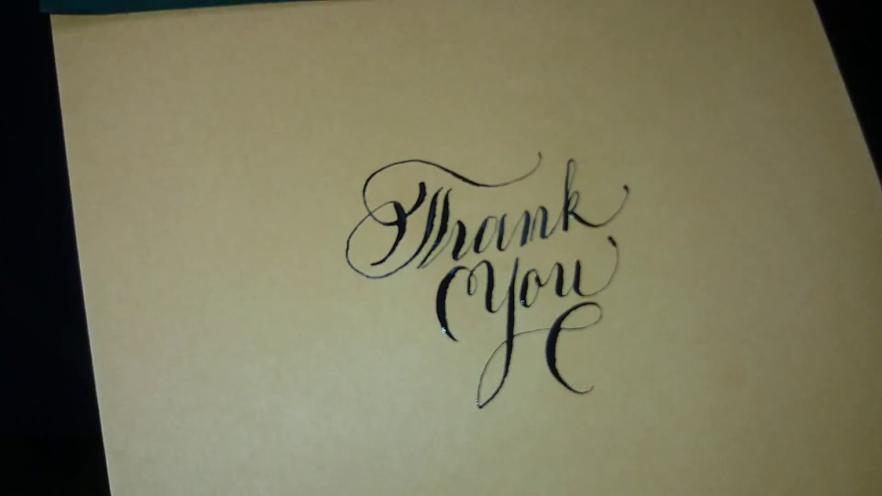 Thank you calligraphy the easy way youtube Calligraphy youtube