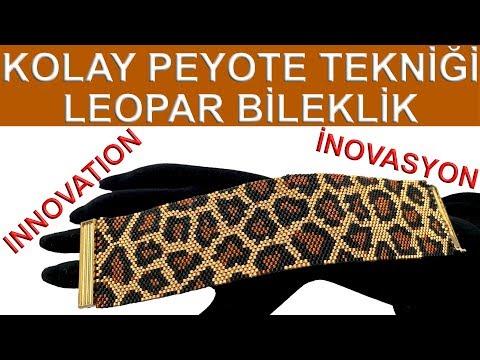 Teknik Peyote Mudah Pola Leopard Gelang 30 Manik-manik