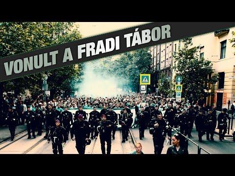 Fradi Tábor vonulás | FTC-UTE Magyar Kupa döntő | 2016.05.07.
