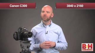 Canon EOS C300 Digital Cinema Camera(In this video, the experts at B&H present a hands-on review of the EOS C300, including field and studio tests that put the camera through its paces. Canon EOS ..., 2012-01-18T17:53:30.000Z)