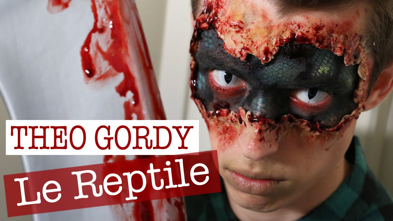 Maquillage halloween reptile sur th o gordy youtube - Maquillage halloween facile homme ...