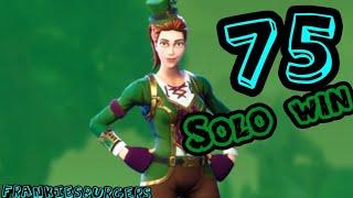 75e Solo Win! LuckyCharm peau Fortnite! Camper de l'année!